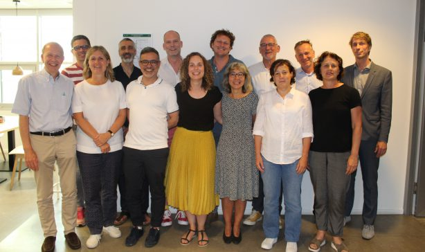 The H-TEAM management team and steering committee (except Elske Hoornenborg). Front row, left to right: Peter Reiss, Suzanne Geerlings, Udi Davidovich, Marije Groot Bruinderink, Febe Deug, Godelieve de Bree and Maria Prins. Back row, left to right: Ard van Sighem, Wim Zuilhof, Pieter Brokx, Marc van der Valk, Antony Oomen, Jan van Bergen and Michiel Heidenrijk.